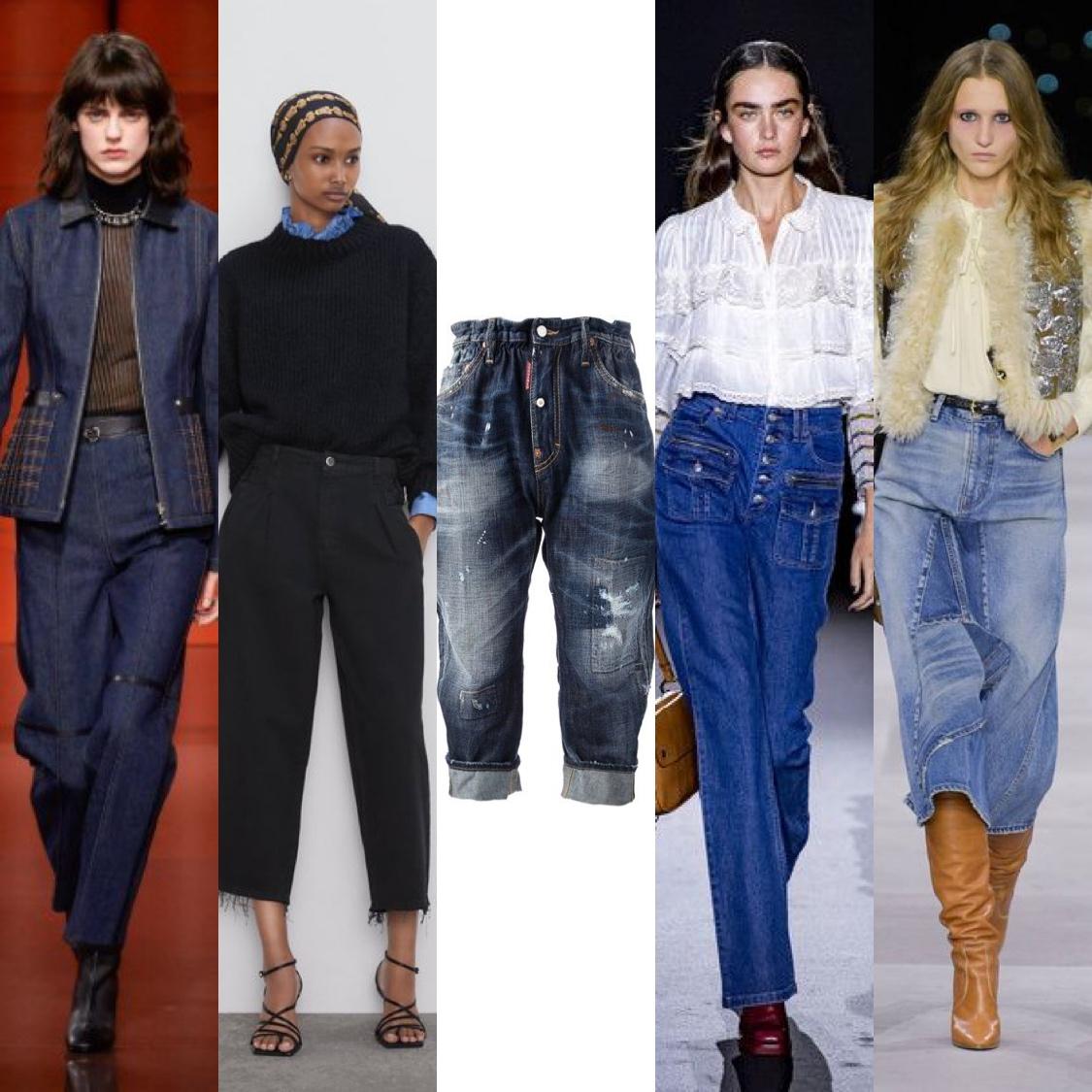 Φαρδιές γραμμές στα Jeans